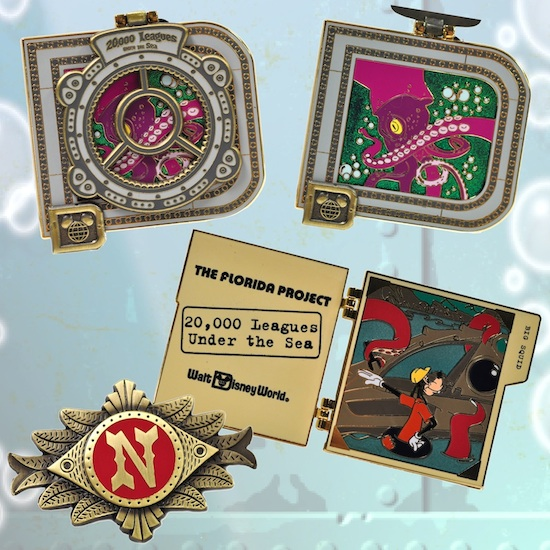 20,000 Leagues Under the Sea Pins Coming Soon to Disney Parks