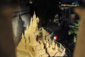 Giant Sand Sculpture of Sleeping Beauty Castle