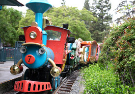 Present- Day Casey Jr. Circus Train at Disneyland Resort