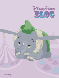 Dumbo the Flying Elephant iPhone/Android Wallpaper