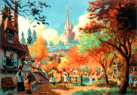 New Fantasyland will include an area dedicated to Beauty and The Beast, including Maurices Cottage (left) and Beasts Castle (middle).