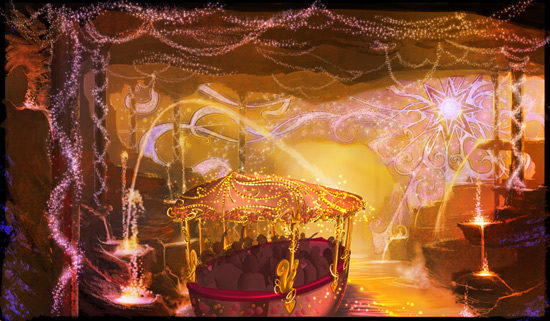 A Rendering from the new dark ride that will be part of Shanghai Disneyland's Enchanted Storybook Castle.