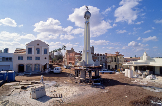 The Crossroads of the World Landmark at Disney's Hollywood Studios