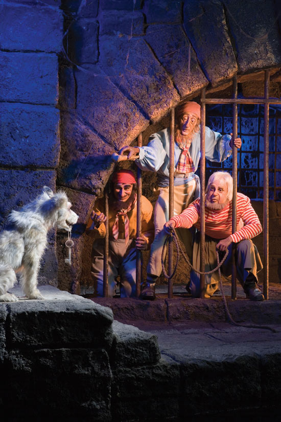 Jen on the Pirates of the Caribbean Attraction at Disneyland Park