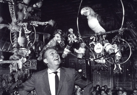 Walt Disney at the Enchanted Tiki Room