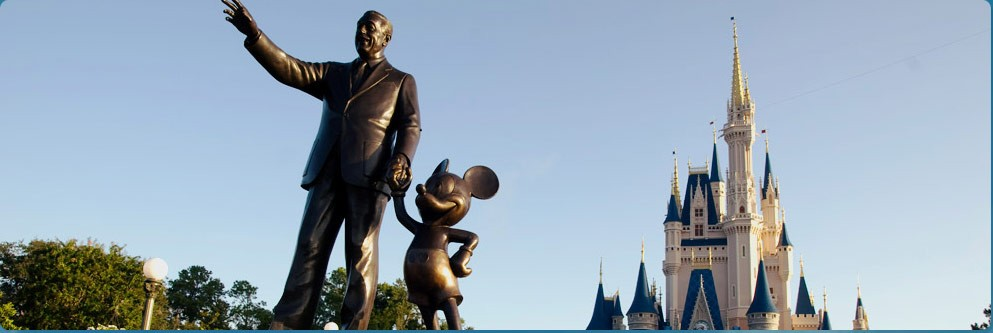 Walt Disney and Mickey Mouse Statue at Walt Disney World Resort
