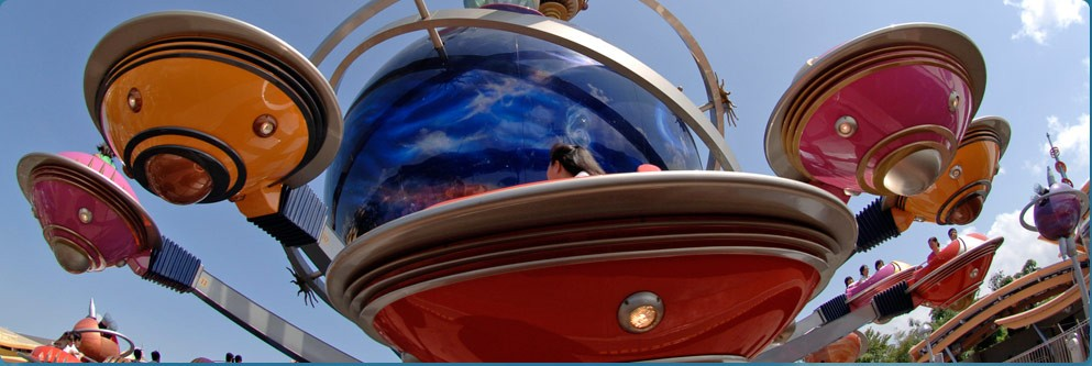 The Orbitron in Tomorrowland at Hong Kong Disneyland