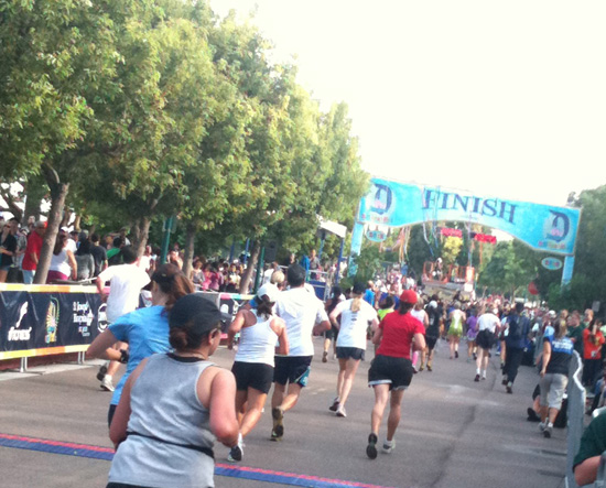 Disneyland Half Marathon Finish Line