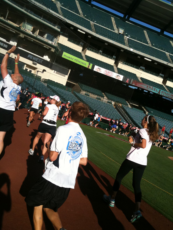 Disneyland Half Marathon - Angels Stadium