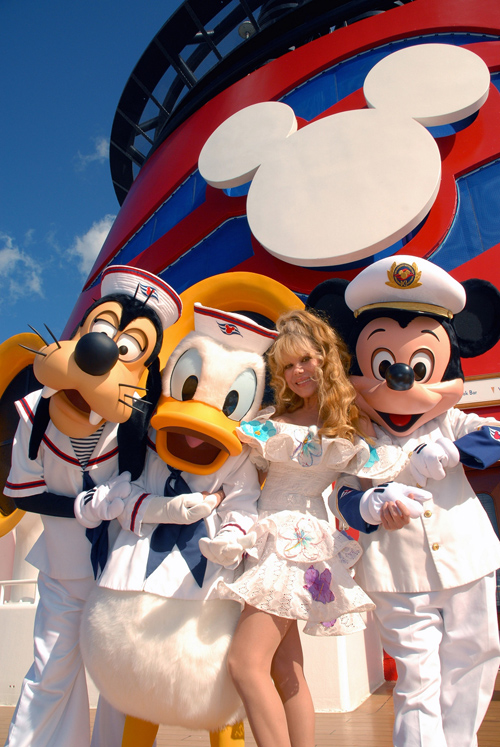 Charo Surprises Guests on the Disney Magic
