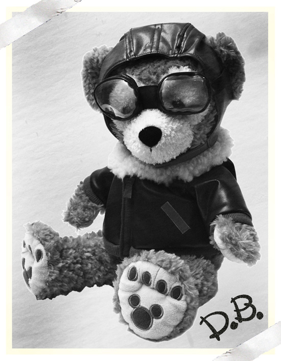 Duffy The Disney Bear in Aviator Costume