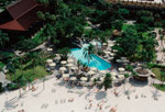 In 2001, the Nanea Volcano Pool replaced the original swimming pool (seen here) at Disney's Polynesian Resort.