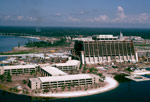 Construction of Disney's Contemporary Resort