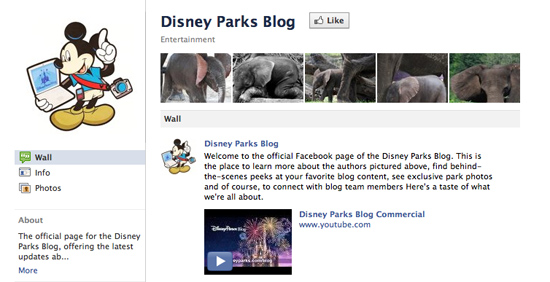 Disney Parks Blog Facebook Page