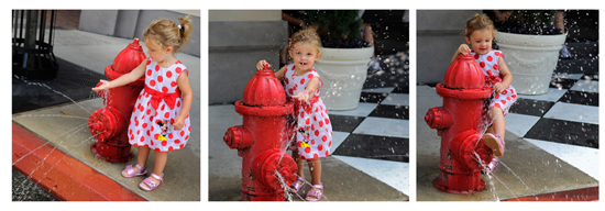 Two-year-old Alexys Grace Tomlinson Cooling Off at Disney's Hollywood Studios