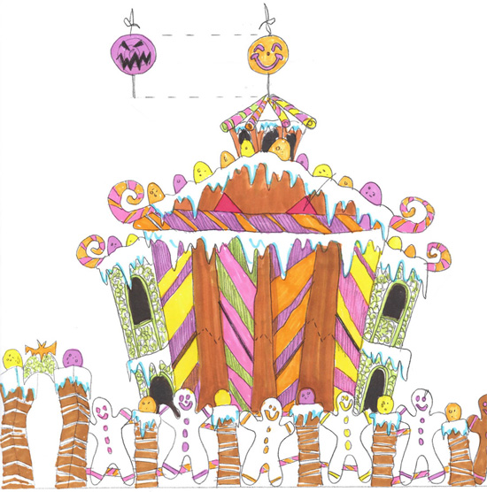 Disneyland Park Haunted Mansion Gingerbread House Sketch