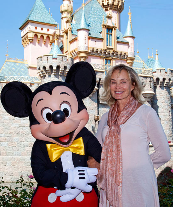 Jessica Lange Meets Mickey Mouse at Disneyland