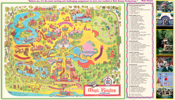 Walt Disney World - 40th Anniversary Map