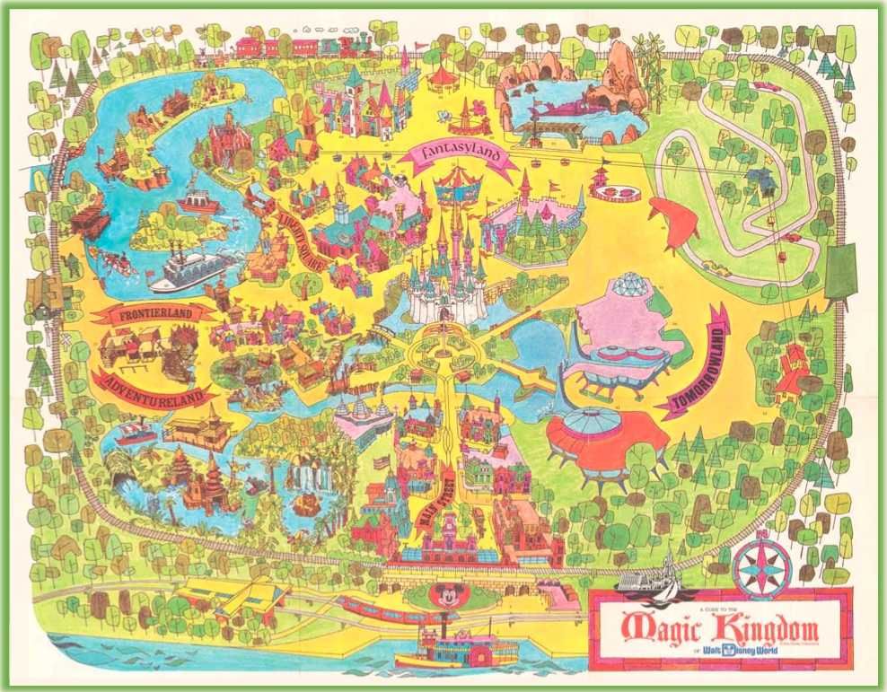 40th Anniversary Commemorative Map of Magic Kingdom Park