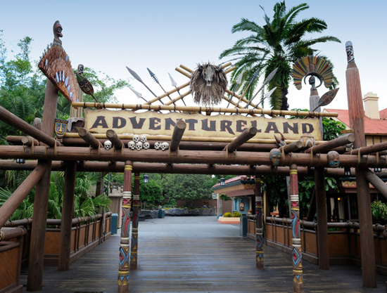 Adventureland Sign at Magic Kingdom Park at the Walt Disney World Resort