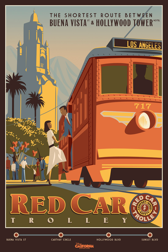 Red Car Trolley Poster