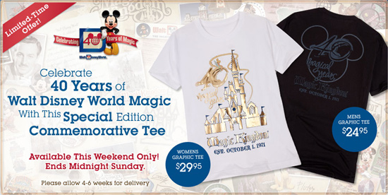Limited Release Commemorative 40th Anniversary T-Shirts