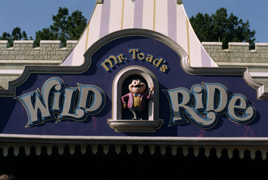 Mr. Toad's Wild Ride from 1971 at Magic Kingdom Park