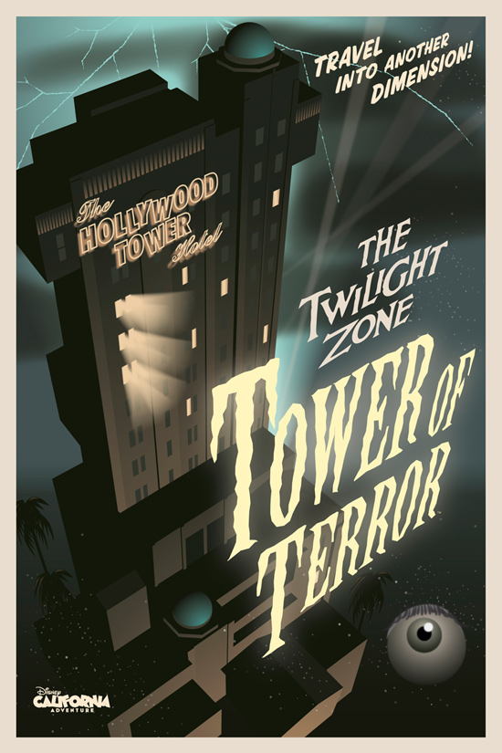 The Twilight Zone Tower of Terror Poster