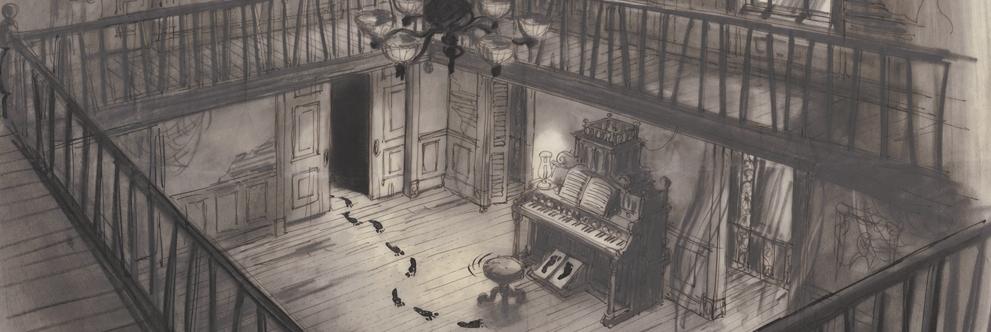 Disneyland Park, Haunted Mansion Ghost at Piano Scene