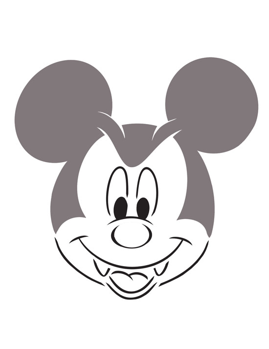 Create your own disney halloween pumpkins disney parks blog for Mickey mouse vampire pumpkin template