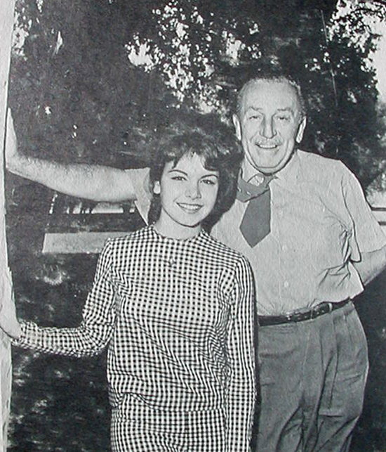 Annette and Walt Disney