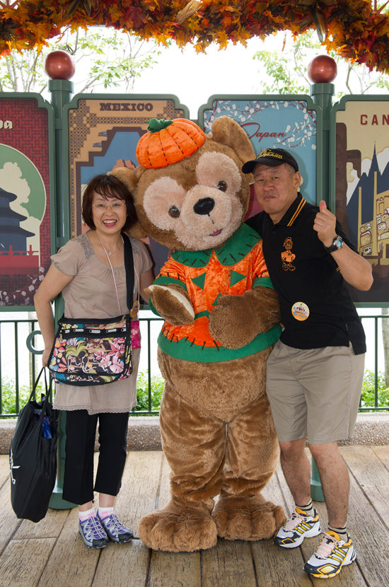Making Halloween Memories With Duffy the Disney Bear at Epcot