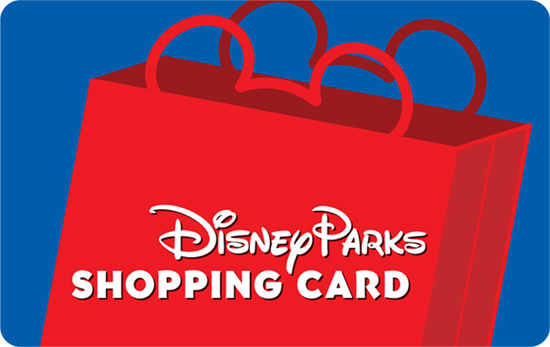 Disney Parks Shopping Card