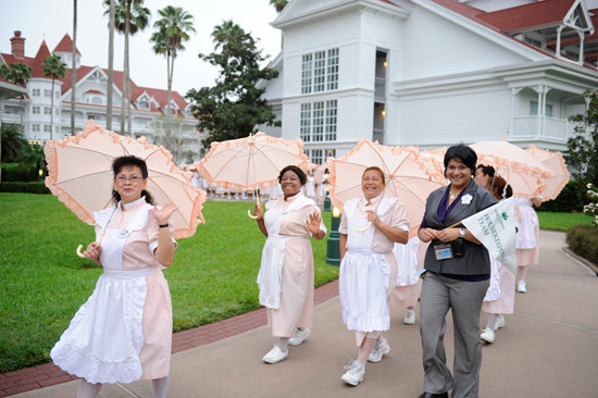 Parasol Parade at Disneys Grand Floridian Resort &#038; Spa