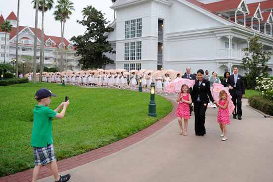 Joseph Brackmann Captures a Special Moment During the Parasol Parade at Disney's Grand Floridian Resort & Spa