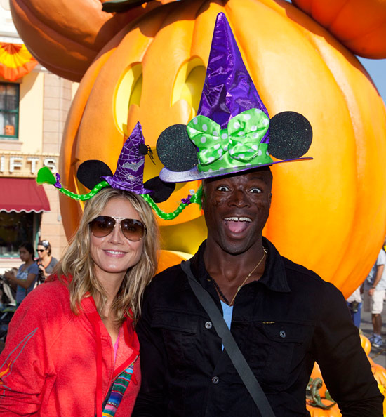 Heidi Klum and Seal at the Disneyland Resort