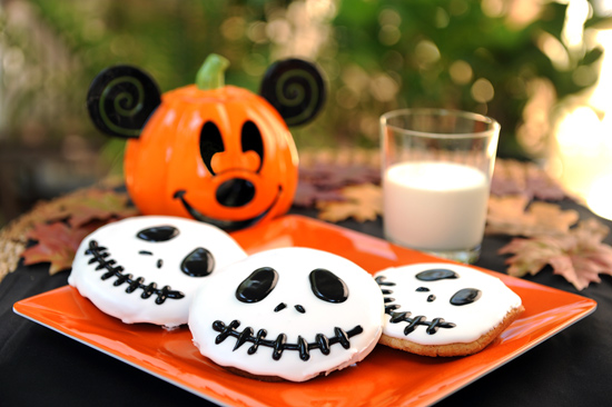 Disney Jack Skellington Cookies From Tony's Town Square Restaurant in Magic Kingdom Park