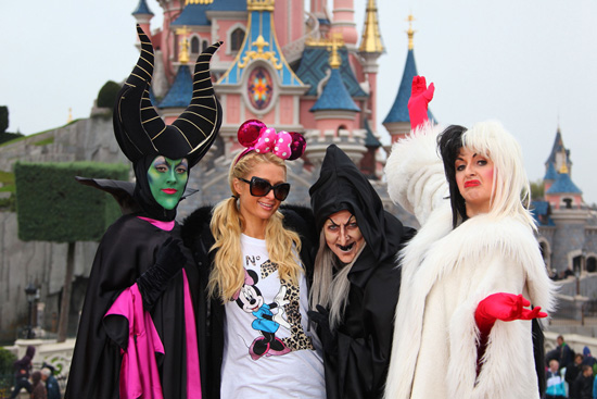 Paris Hilton Celebrates Halloween at Disneyland Paris