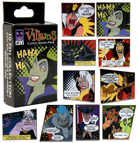 Comic Book Inspired Disney Villains Pin Set