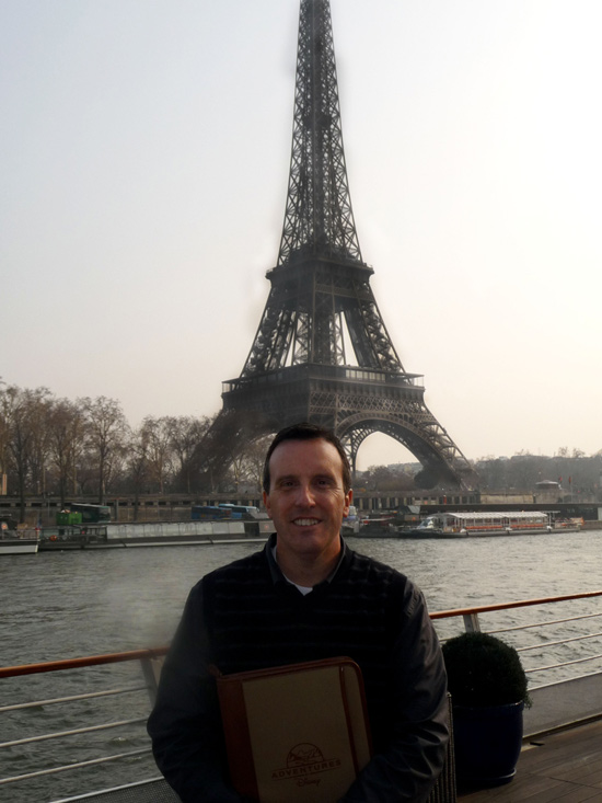 Regional Director of Adventures by Disney, Fred Zappala, in Front of the Eiffel Tower in Paris