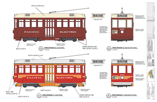 Red Car Trolley Designs at Disney California Adventure Park