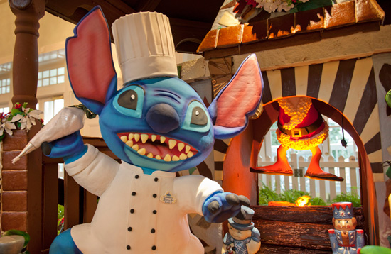 Stitch gets his own Gingerbread House at Walt Disney World Resort