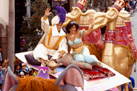 Prince Ali and Princess Jasmine in Aladdin's Royal Caravan Parade at Walt Disney World Resort