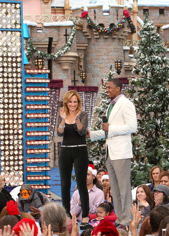 Nick Cannon and Marlee Matlin at Disneyland Park