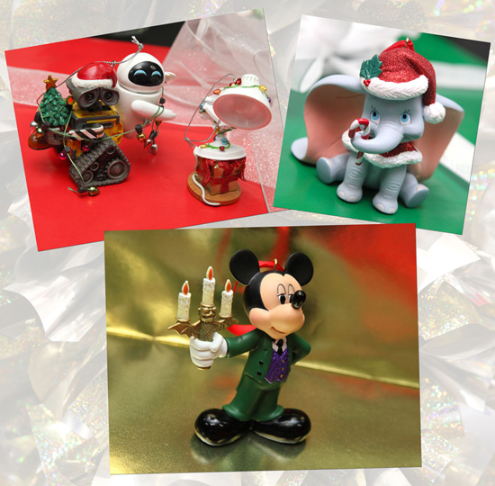 Pixar and Disney Character Ornaments from Disney Parks