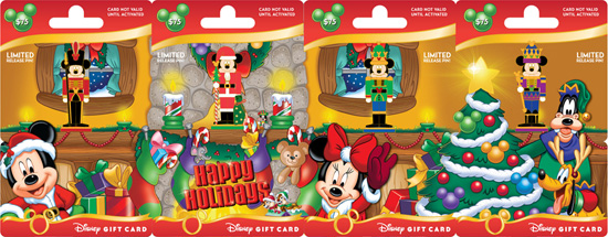 New Holiday Disney Gift Cards with Pins Arriving at Disney Parks