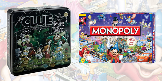 The Twilight Zone Tower of Terror Clue and Disney Theme Park Edition Monopoly Board Games