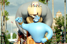 The Genie in Aladdin's Royal Caravan Parade at Walt Disney World Resort