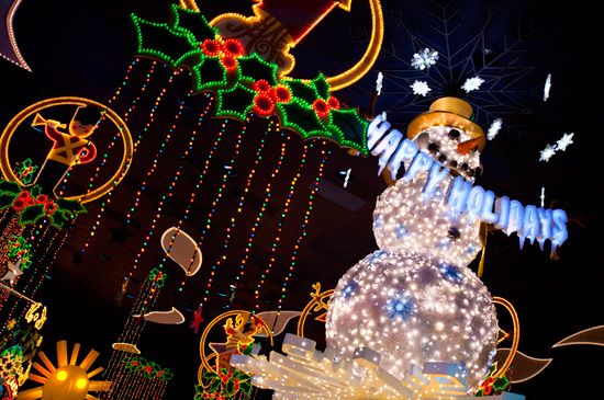 New 14-foot Snowman in 'it's a small world' Holiday, Part of Holidays at the Disneyland Resort