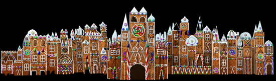 Gingerbread Treatment at 'it's a small world' at Disneyland Park